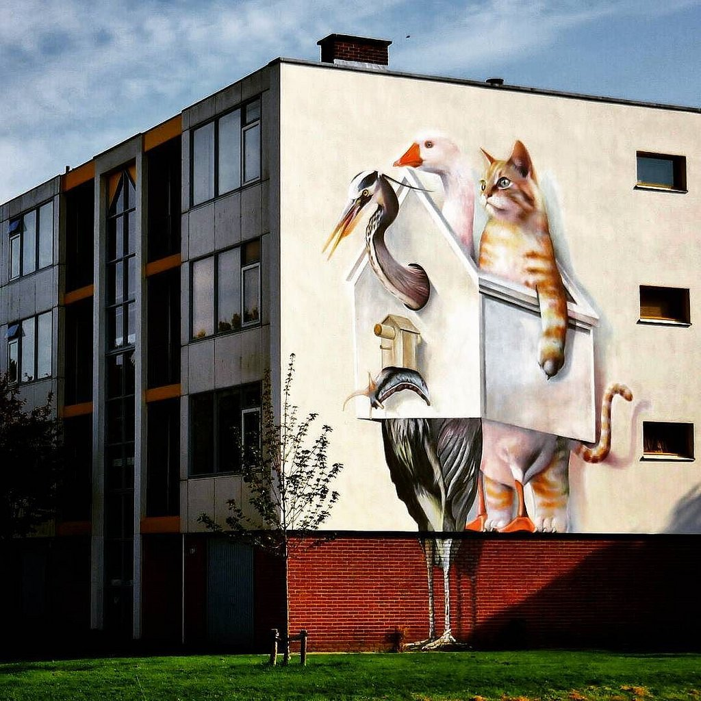 Collaboration between Super-A  &amp; Barre Verkerke in Goes, The Netherlands    #streetart #artderue #artedistrada #artecallejero #artederua #стритарт #artist #collaboration #artist #superA #barreverkerke #mural #goes #nederland #netherlands    via Flickr |  https:// goo.gl/99xz2X  &nbsp;  <br>http://pic.twitter.com/awvLIRWGPu