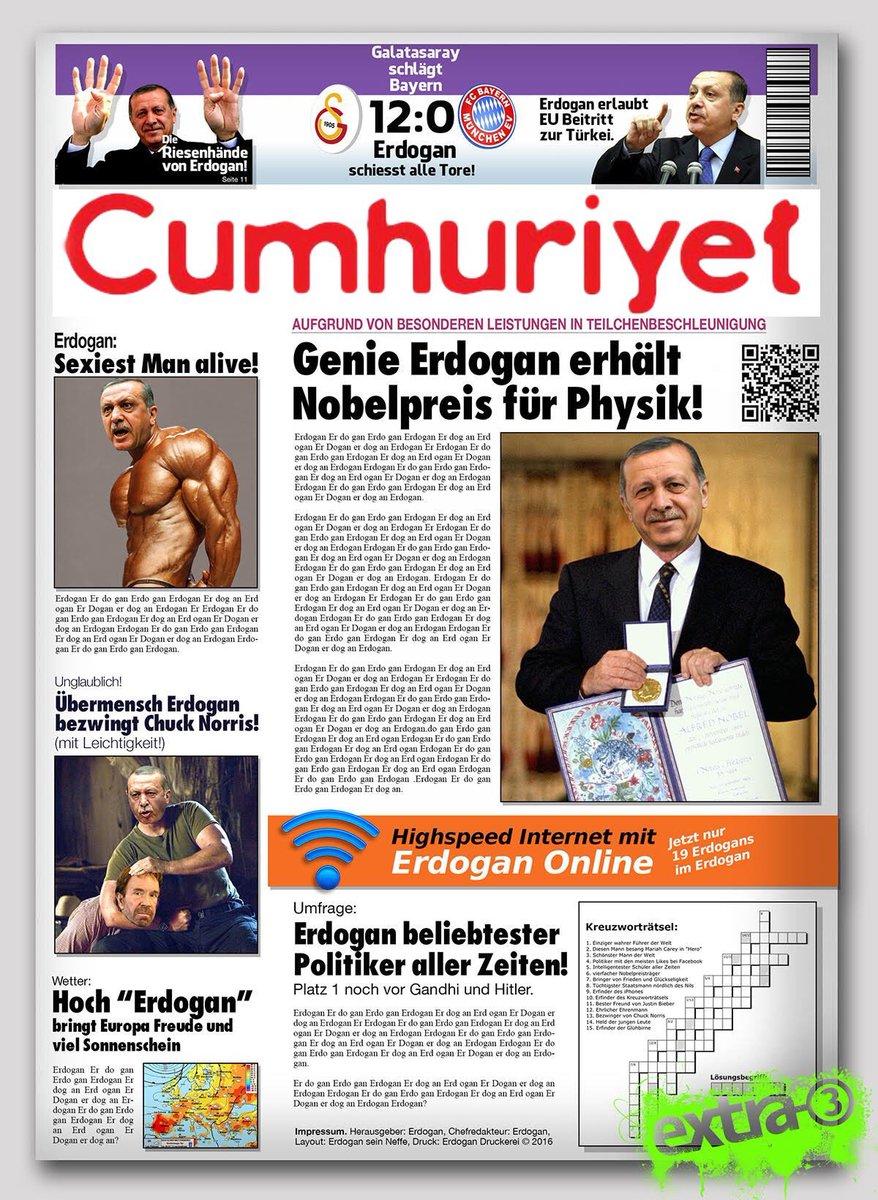 Gericht verurteilt Chefredakteur und 14 Mitarbeiter zu langen Haftstrafen: #Cumhuriyet nun wieder auf #Erdogan-Linie!