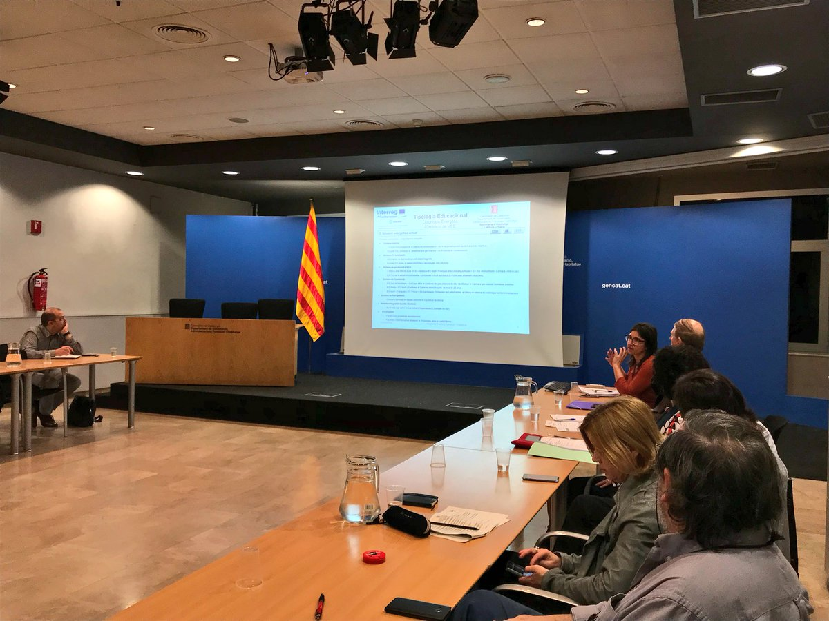 Right now, educational buildings discussed in the 7th @SherpaMED Catalan Regional Training Session in Barcelona #InterregMed #eeb #energyefficiency #publicbuildings #erdf<br>http://pic.twitter.com/fuEl5DBpJX