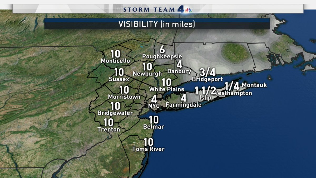 Most areas are looking pretty clear, but some of our suburbs, mainly N&amp;E of the city, are still a bit foggy at the current moment... Fog will continue to dissipate, but still take precaution traveling in these areas! #fog #visibility #NBC4NY<br>http://pic.twitter.com/ltaPFsuHmp