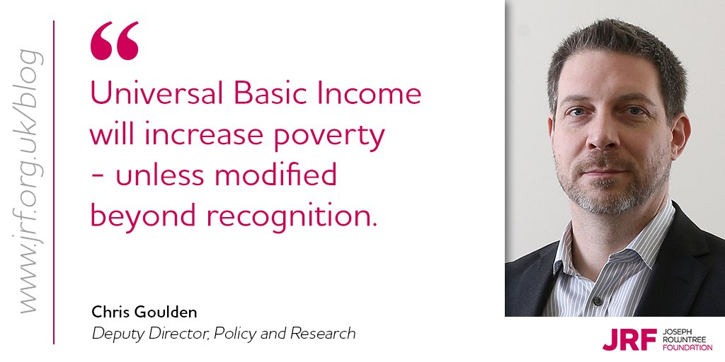 NOT the answer to poverty - that's @Chris_Goulden's verdict on Universal Basic Income, as  trials are abandoned in Finland. Read Chris's blog: https://t.co/gBwswYxEAT #solveukpoverty