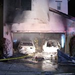 Image for the Tweet beginning: Family escapes uninjured from burning