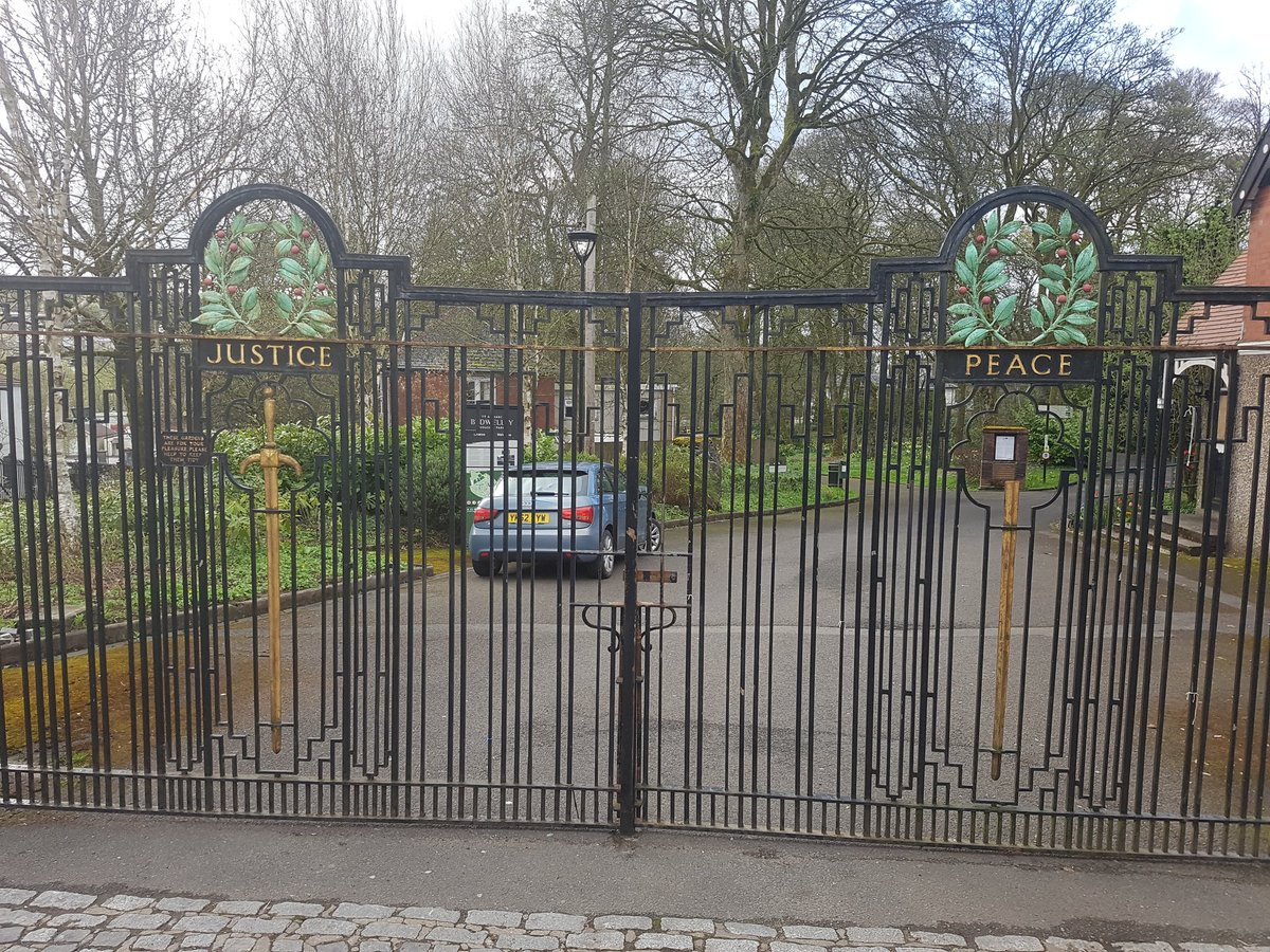 Another mindless act of #vandalism  @BedwelltyHouse @tredegarwales The gates to commemorate #ww2 was damaged some time over the weekend.#justice #peace  With @Aneurinleisure @BlaenauGwentCBC @gwentgazette @southwalesargus  @haydht2000 @TredegarTC  @gptredegar<br>http://pic.twitter.com/3CirtKB0r9