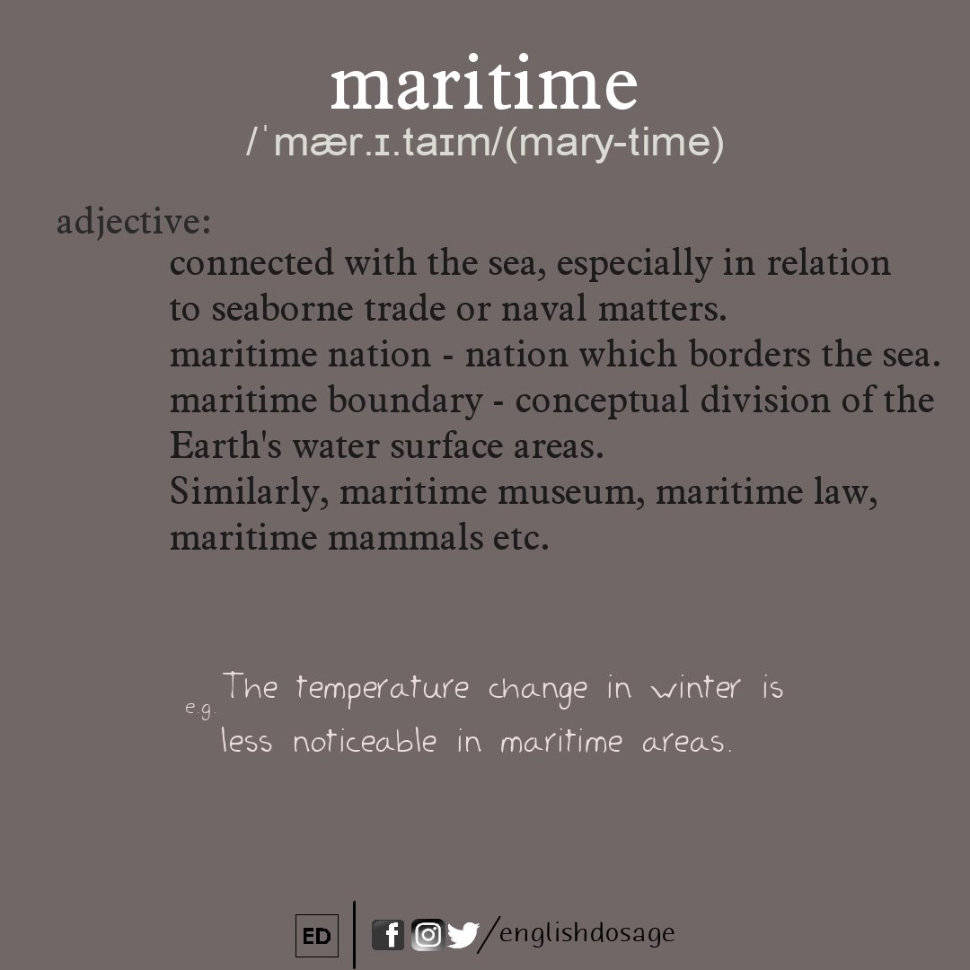 Follow @englishdosage and Learn new words #englishdosage #wordmeaning #learnenglish #learnnewthings #learn #education #study #latest #maritime #newword #Trending #knowledge #englishlearning #followforfollow #learnnewthings #latest #languagelearning #F4F #english #follo<br>http://pic.twitter.com/4tAKFXs5Ix