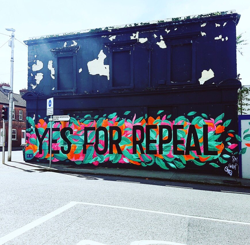 Yes for Repeal!W. Emma &amp; Rory.Tks to @OneCumberland for the wall &amp; paint @DLTogether4Yes @Together4yes #RepealTheEighth #repeal #mural #art<br>http://pic.twitter.com/pVAcBTVBPv