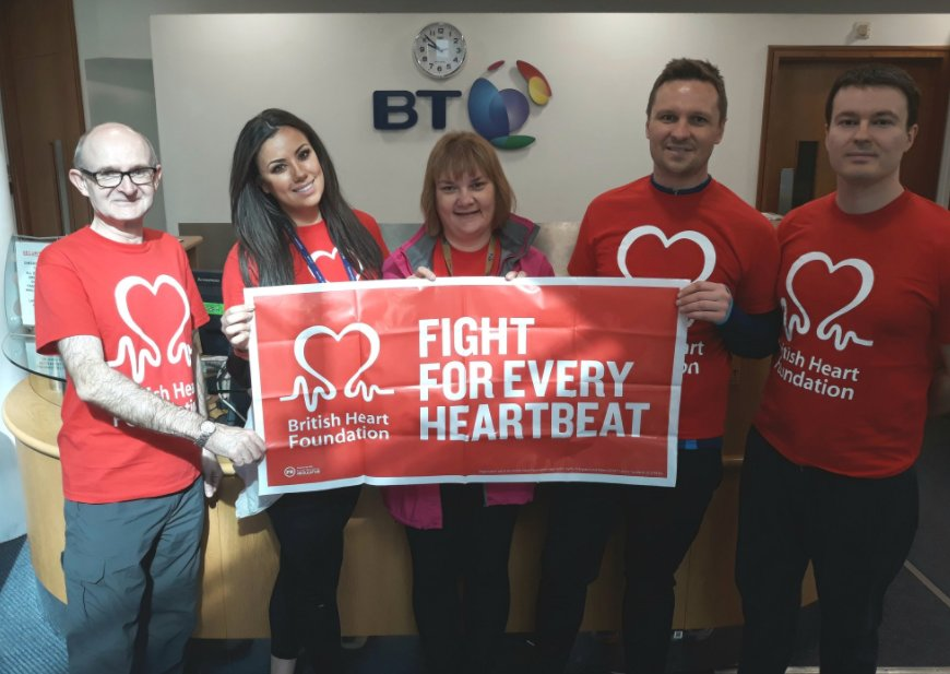 Good luck to Lara and the team @bt_uk who are taking on the Leeds to Saltaire canal walk for the BHF in support of the their colleague, Gary.