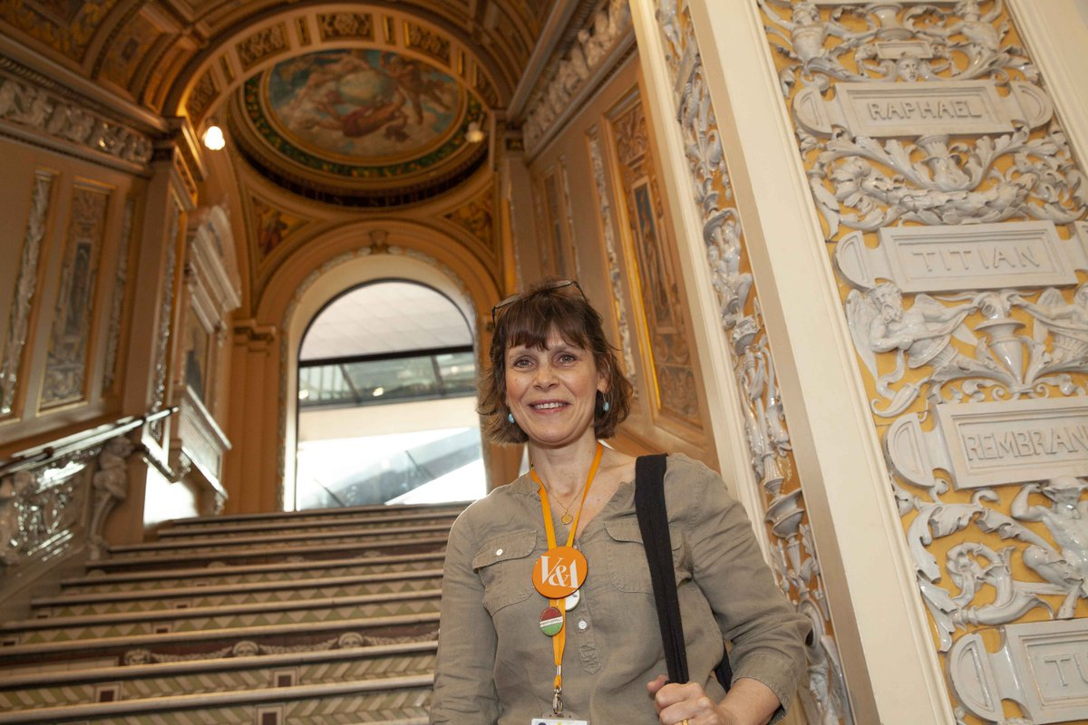 """&quot;I love volunteering at the V&amp;A because it is a real joy for me to pass on to all the visitors who come here, my great interest and enthusiasm for this wonderful museum."""" - Niccola Maitlis, Volunteer #ProfessionsMW<br>http://pic.twitter.com/Vnqm29f7M6"""
