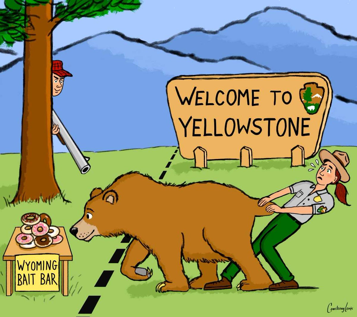 Hunting Yellowstone and Grand Teton grizzlies? It's a terrible idea. RT to tell @GovMattMead to REJECT Wyoming's planned hunt!