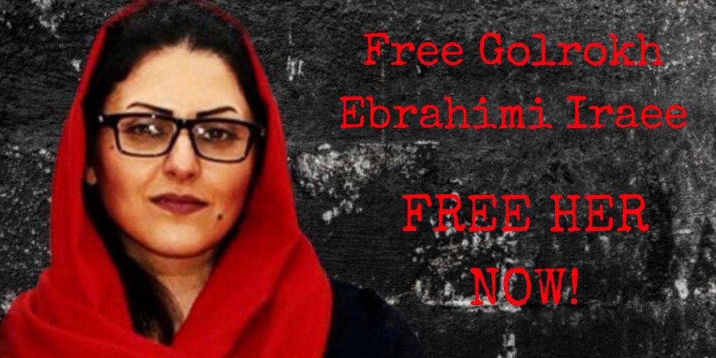 Chiedo il vostro aiuto per condividere la storia di Golrokh Iraee, attivista e scrittrice iraniana condannata a 6 anni di carcere per uno racconto (mai pubblicato) contro la lapidazione. È in sciopero della fame dal 3 febbraio e ora è in coma. #FreeIraee https://t.co/UTS5c2qzW9