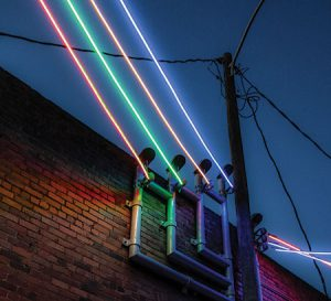 Ld A Features See How Lighting Design Firm Pbqa Turned Century Old Alley In Lincoln Nebraska Into Thriving Destination Bursting With Light Art