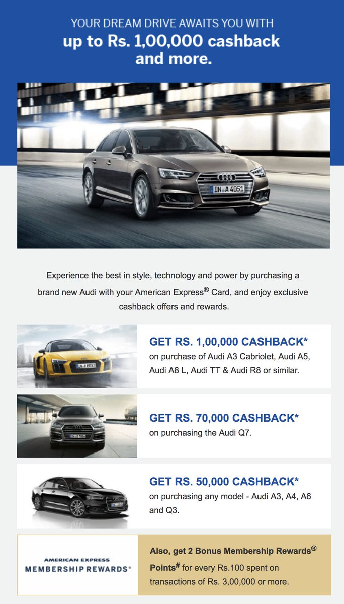 American Express Car Buying >> Siddharth Raman On Twitter Getting An Audi Buy It With Your