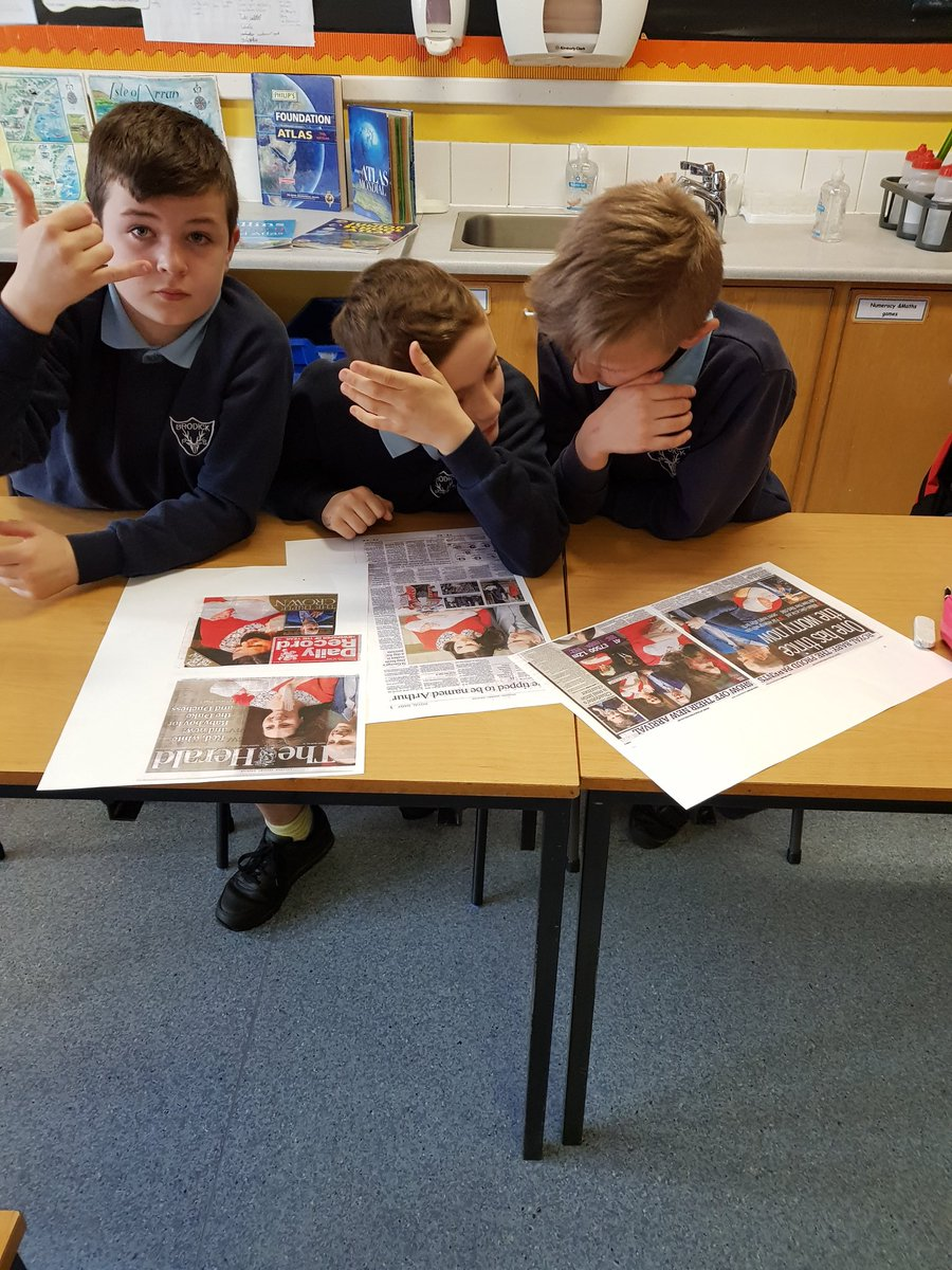 comparing newspaper articles