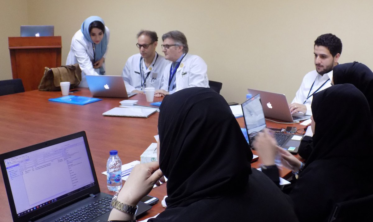 Our next batch of attendees for the afternoon session of the #Endnote Training Session are learning the tricks of the trade, courtesy of our Certified EndNote Trainor, Ms. Amal Alghammas. #endnotetraining #references #scientificwriting #medicalpublishing #ASM<br>http://pic.twitter.com/ccoUawI2Re