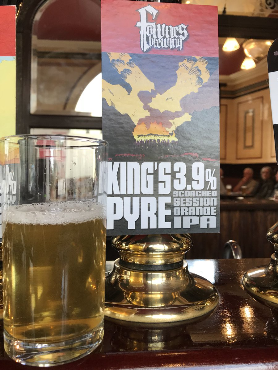It's back! With more Orange than before!: 'King&#39;s Pyre' a 3.9% Scorched Orange #IPA from @FownesBrewing . Orange. Caramel. Smokey <br>http://pic.twitter.com/PS7kR8c89V