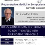 Image for the Tweet beginning: Dr. Gordon Keller is speaking