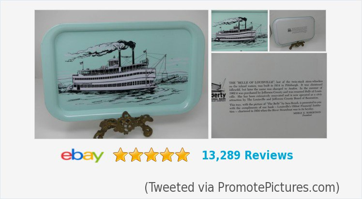 Vintage Cricket Farmer On Twitter Auction Vintage Serving Tray Belloflouisville Paddle Wheel Boat Teal Metal Advertising Ebay Louisville Kentucky Derby Https T Co Hhwsn8zl5h Tweeted Via Https T Co Nalrrqnvhz Https T Co Nfhfqj72x7