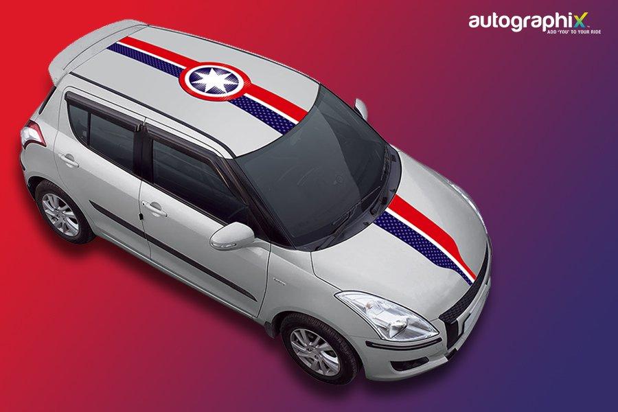 America Car Bonnet And Roof Wrap For Suzuki Swift Wagon R Honda City Toyota Fortuner Hyundai Elite I20 More Click Googl P6t1e3 InfinityWar