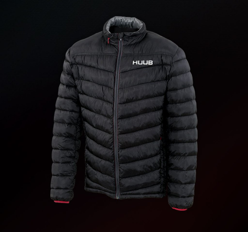 f0821d3ac2b The HUUB Quilted Jacket is on the backs of every triathlete this year and  is one