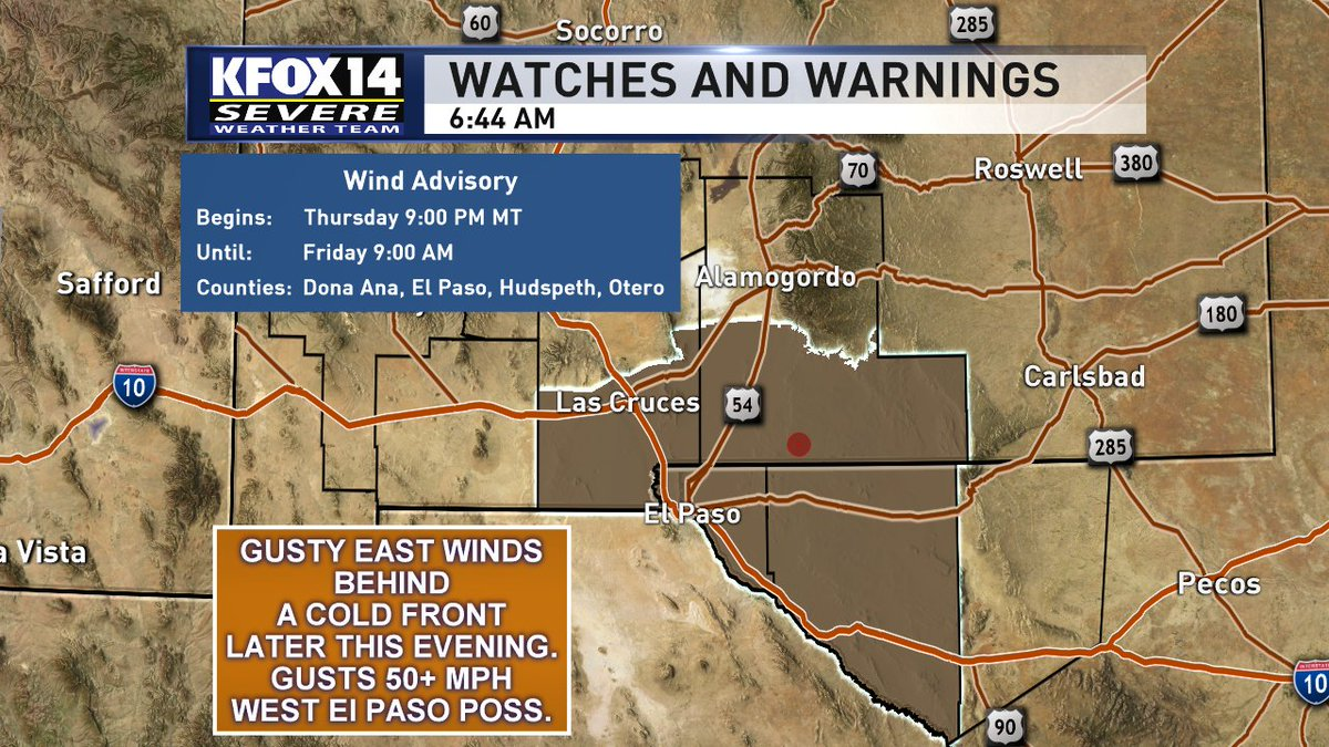 .@KFOX14 Meteorologist Brad Montgomery also has a look at your weekend ahead. For that and more you can catch him live on the KFOX14 Morning News.