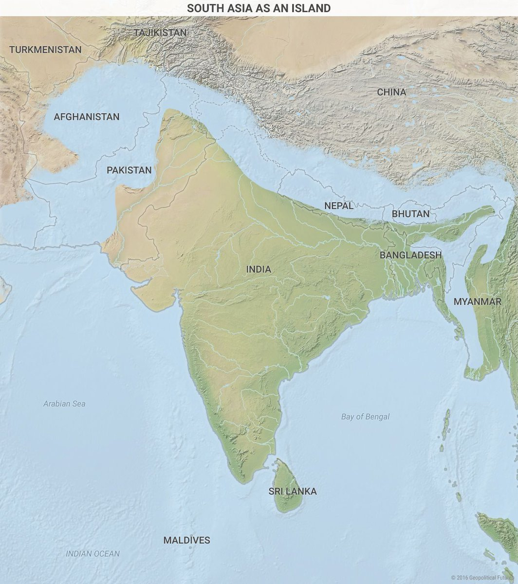 Simon kuestenmacher on twitter clever map by mauldinecon shows shows south east asia as an island to emphasize the strong barrier that the hindukush pamir karakoram himalayas rakhine mountain ranges create gumiabroncs Gallery