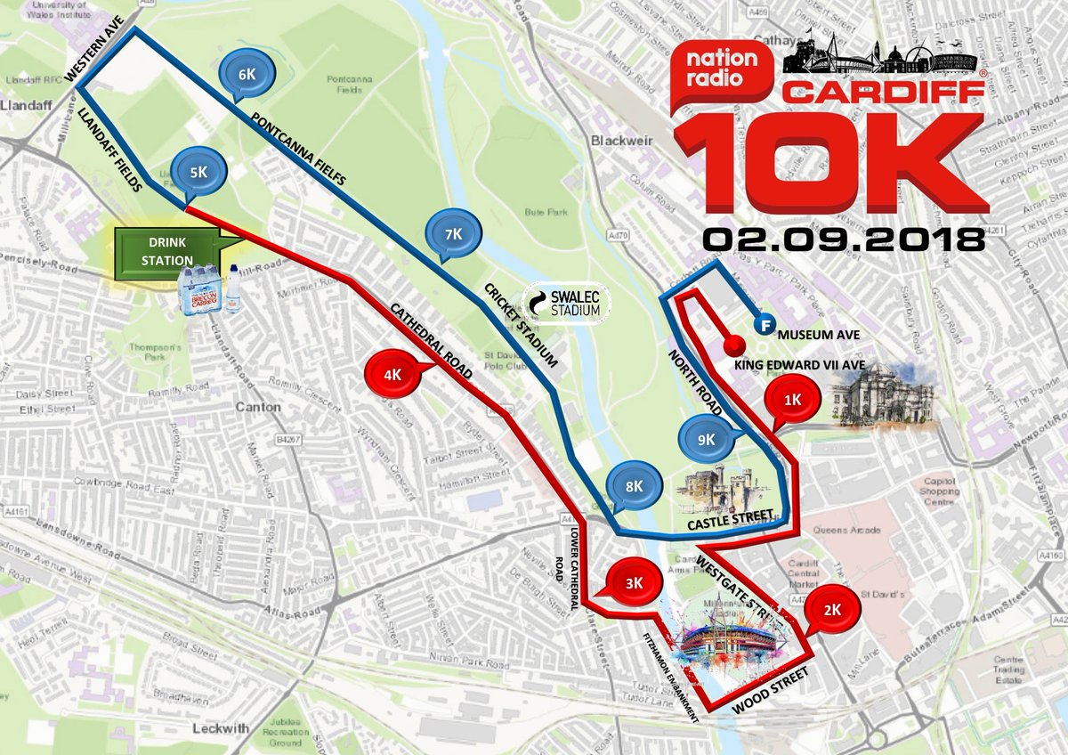 We are proud to launch the route for the 2018 @NationRadio @Cardiff10k It&#39;s a route which is Flat, Fast and will be lots of Fun. #Cardiff #Wales #10k #running #movement  <br>http://pic.twitter.com/m48mr8SDKb