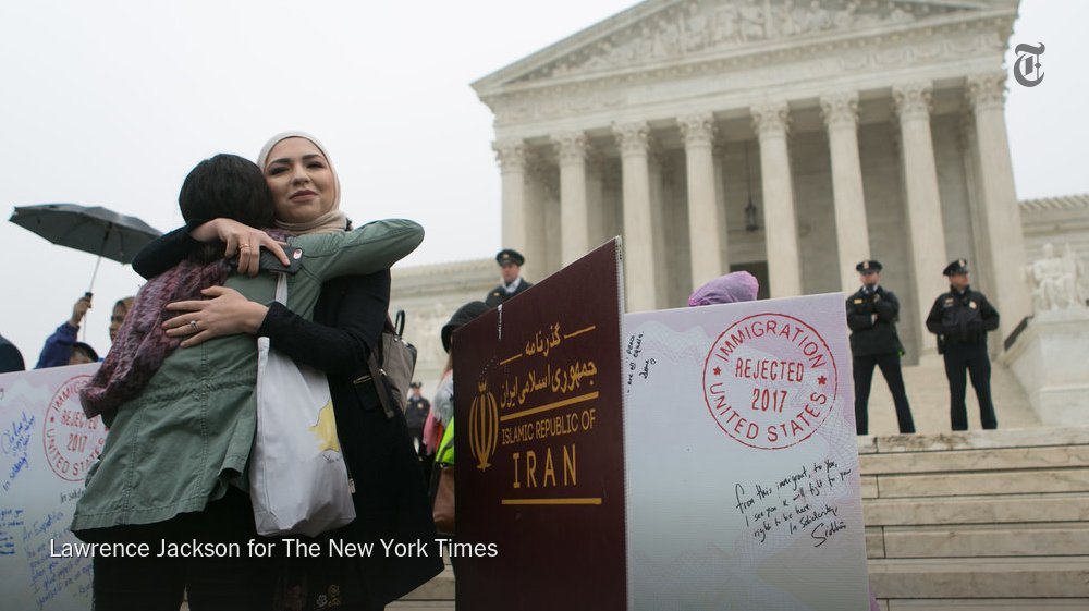 The Supreme Court heard arguments on President Trump's third travel ban — perhaps the most contentious case they'll hear this term. Here's a selection of some of the questions the justices grappled with. https://t.co/Qsg0ZEr53f