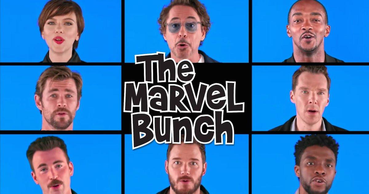 See the #InfinityWar cast parody the 'Brady Bunch' theme on #FallonTonight https://t.co/slVGRPvMnU https://t.co/VRtzZKIgVd