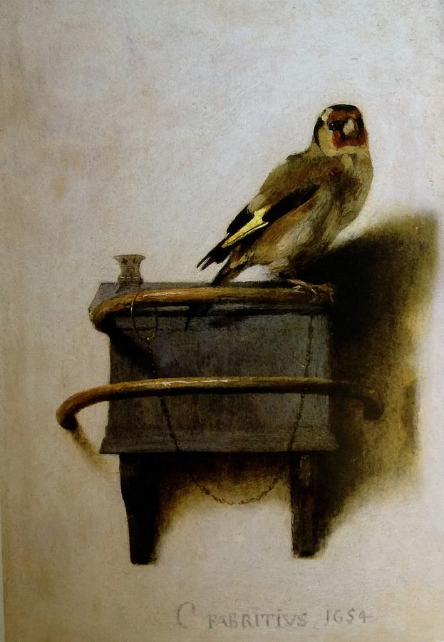 #amreading Donna Tartt&#39;s The Goldfinch, which takes its name from this incredible Carel Fabritius painting. #PrizeWinningBooks #Pulitzer #Books #Reading #Literature #Art<br>http://pic.twitter.com/dY4NLpwrTV