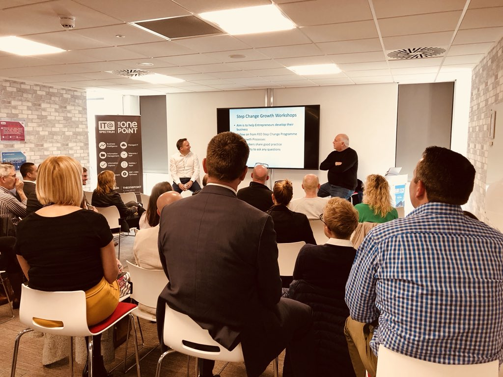 Great #FEOmember workshop tonight! Big thank you to our host @theonepoint and to @MartinLauer,  @DavidHallDHC and Nathan Greenfield for presenting. #businessgeneration #sales #profit <br>http://pic.twitter.com/W8vXeumvpI