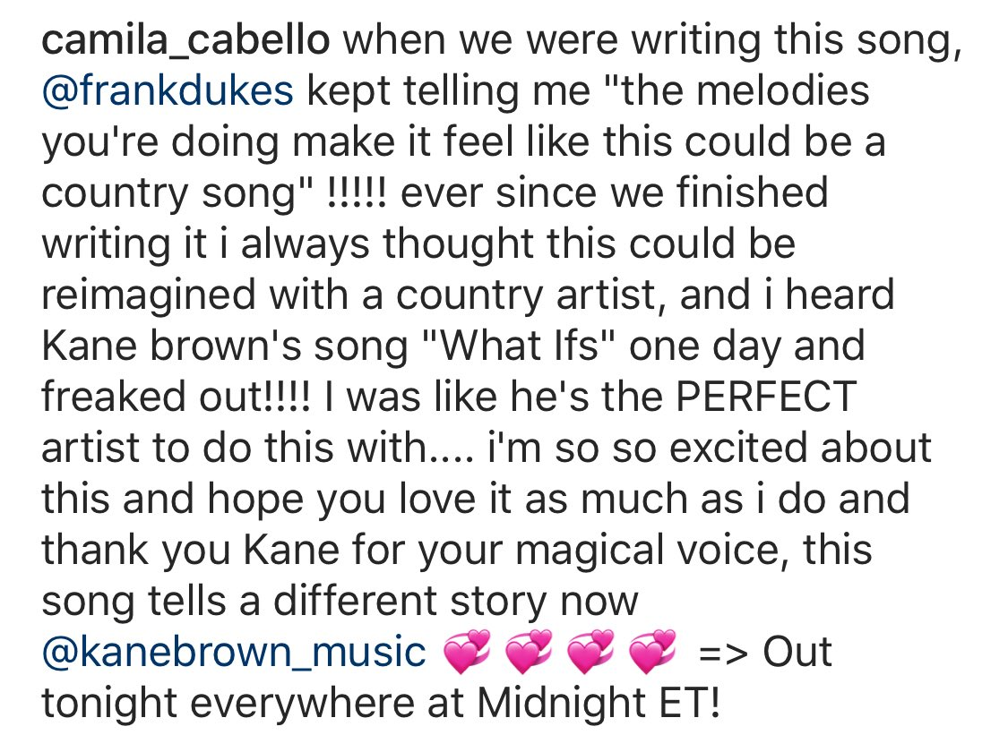 .... i'm so so excited about this and hope you love it as much as i do and thank you Kane for your magical voice, this song tells a different story now @kanebrown 💞💞💞💞 => Out tonight everywhere at Midnight ET!