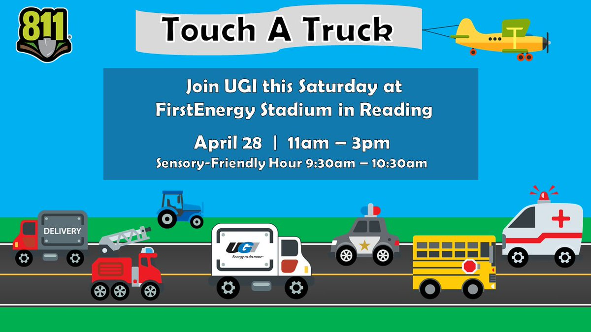 test Twitter Media - Visiting Reading this Saturday? Stop by the UGI trucks at Touch A Truck and help us celebrate National Safe Digging Month! #Call811 https://t.co/JuCtddNAWe