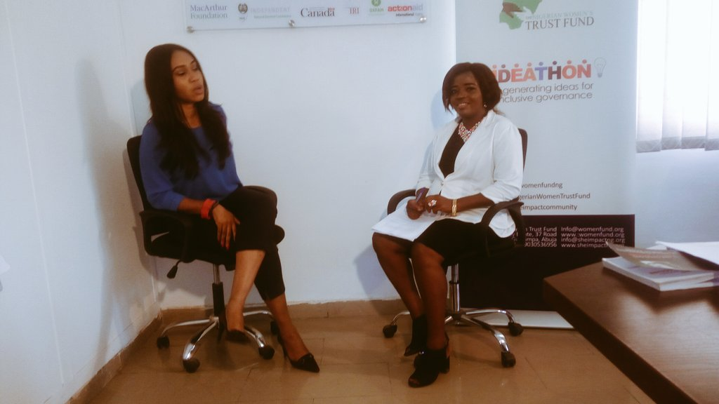 Interviewing the CEO of HEIR Anuli Olaniyi, in the documentary video for the Ideathon #Journalism #ReportWomen<br>http://pic.twitter.com/1NacEAqGCu