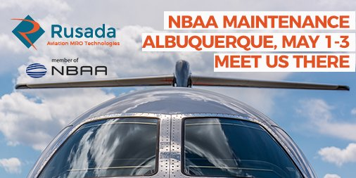 Are you attending @NBAA #NBAAMC in Albuquerque next week? Meet Rusada's aviation tech specialists there! #AvMRO # BizAvWorks https://t.co/qITrLbL09B