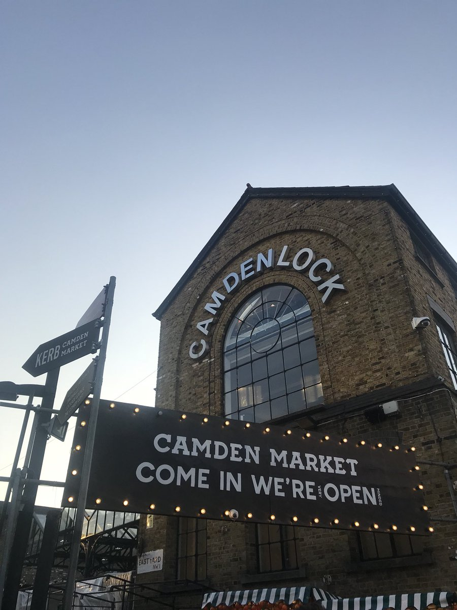 """""""Come in we're open!"""" 🤗  @CamdenMarket is home to over 1,000 places to shop, eat, drink and dance right next to Regent's Canal!  So, what are you waiting for? #SeeMoreLondon"""