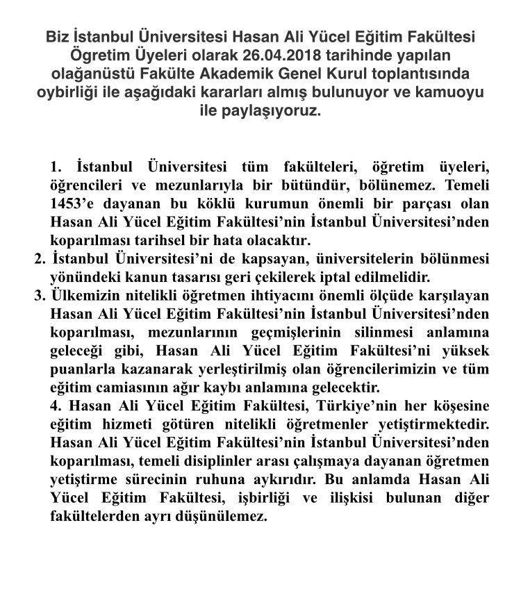 Istanbul Universitesi Hasan Ali Yucel Egitim Fakultesi