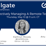 Image for the Tweet beginning: #HRTailgate Preview: Effectively Managing Remote