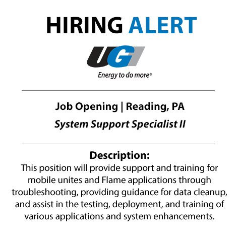 test Twitter Media - Energy jobs are on the rise. Don't miss your opportunity to join our rapidly growing industry at UGI. We're searching for a System Support Specialist to join our team in Reading. Apply today: https://t.co/S3qIMU5TEs https://t.co/WD3ob4ZbvR