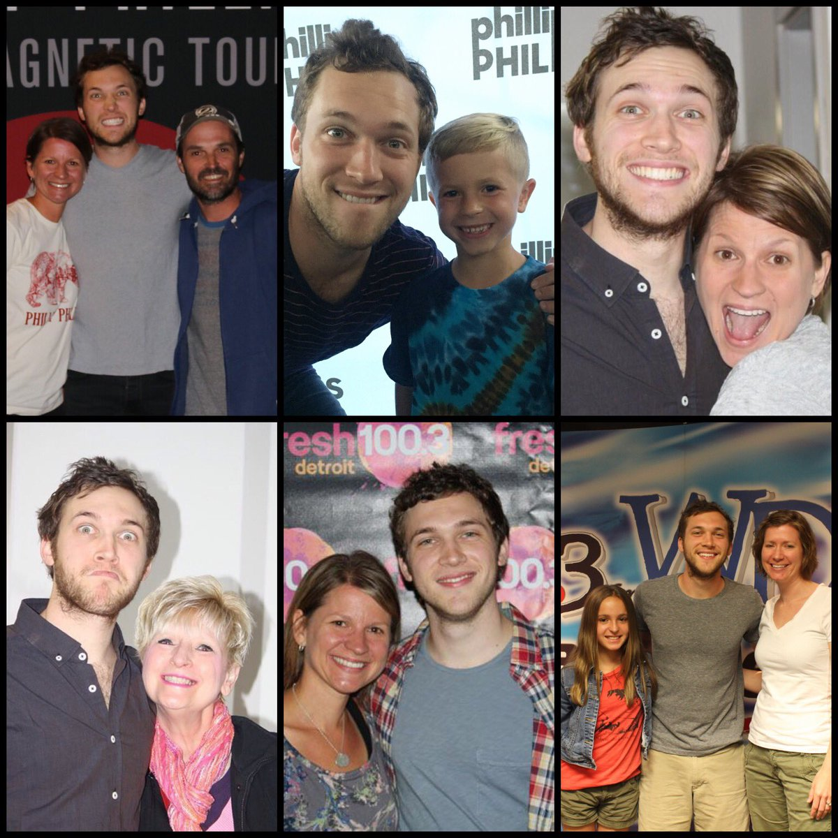 Phillipstweets phillipstweets twitter tbt meet and greets with phillip phillips s a family affair pictured my husband my son my mom my daughter and my sis m4hsunfo Images