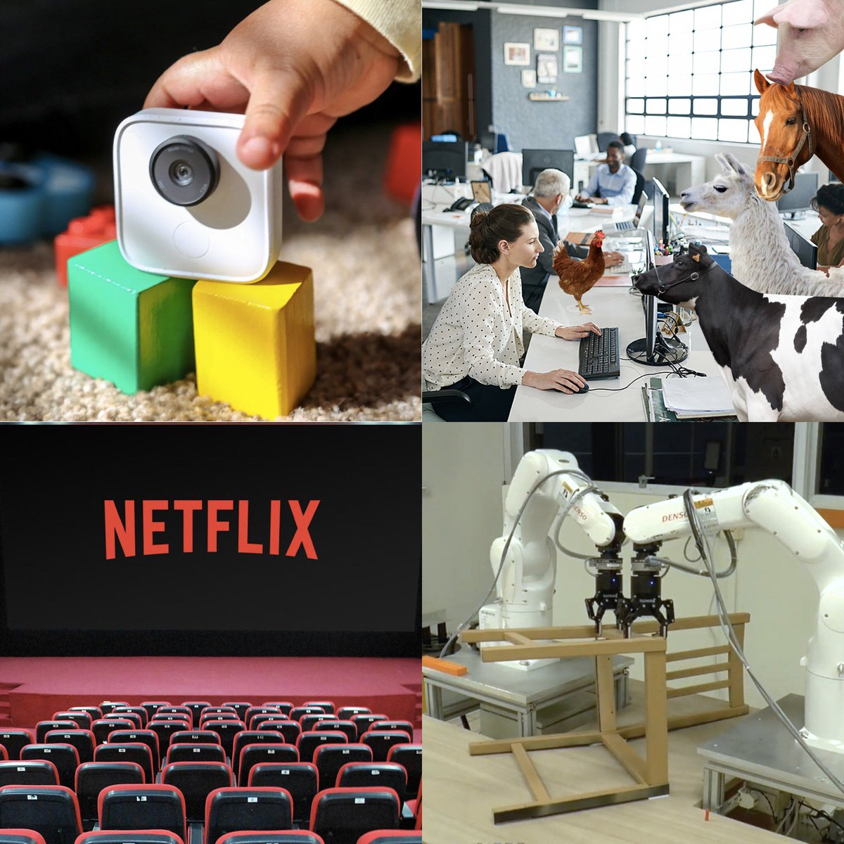 EPISODE 36: &#39;Don&#39;t Put A Pig In An Office&#39; We discuss #Google Clips Cameras, office farm animals , #Netflix movie theaters, and robots programmed to assemble #Ikea furniture. This &amp; more! Listen and subscribe at  http:// inferiormen.com  &nbsp;    #PodernFamily #universehead<br>http://pic.twitter.com/WD6Hqc5EnQ