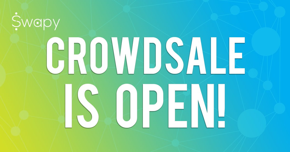 Swapy ICO Crowdsale is Open! Find out about how to contribute on  http://www. swapy.network  &nbsp;   Join our Telegram:[  http:// telegram.me/swapynetworkch at &nbsp; … ] #ICO #blockchain #cryptocurrency #ethereum #altcoin #ICOs #fintech #tokens #tokensale #Dapp #ANN #ETH #ethereum #dApps #crowdsale #TGE #Crypto<br>http://pic.twitter.com/SNNPb2H08H
