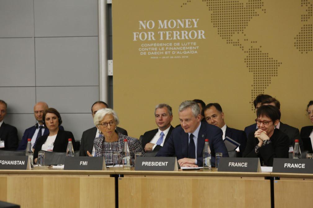 Encouragée par l'engagement de tous les pays participants à renforcer la lutte mondiale contre le financement du terrorisme, à laquelle le FMI accorde son plein soutien. Nous avons fait des avancées importantes ; ensemble, nous pouvons faire face aux défis qui restent à relever.