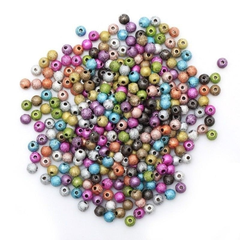 Mixed colour Metal Stardust Bead 4mm X 100