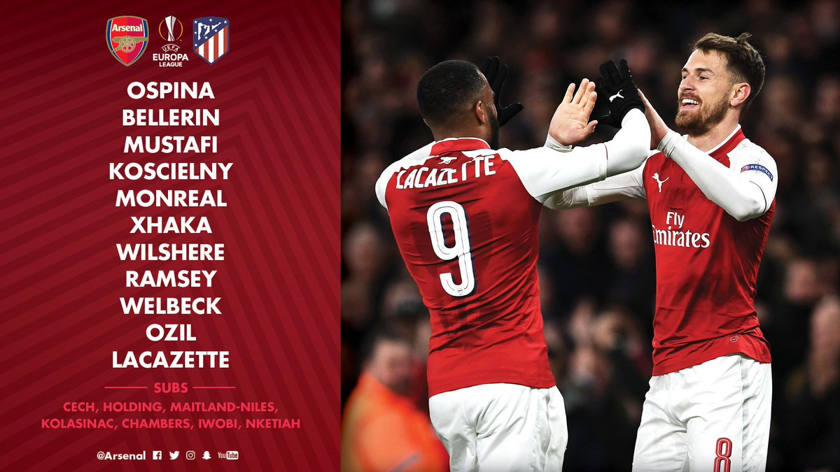 Arsenal FC  Here it is- our team for #AFCvATL