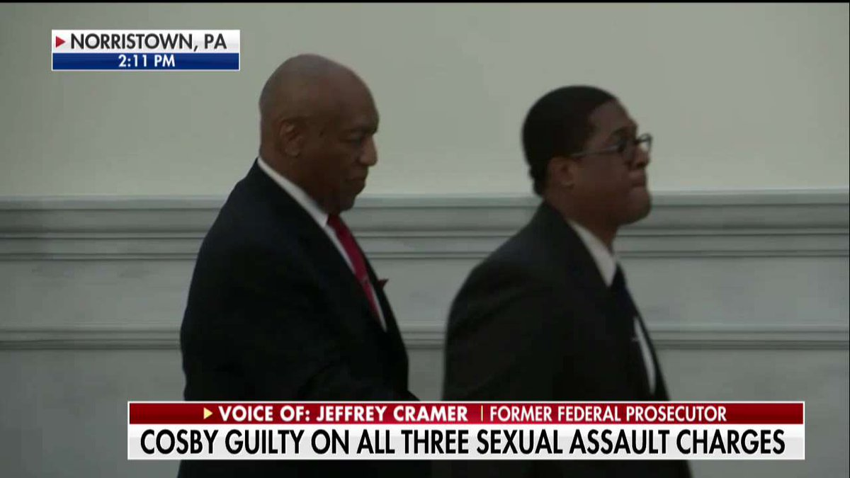 Bill Cosby, moments after being found guilty. https://t.co/jn84ydmy9k