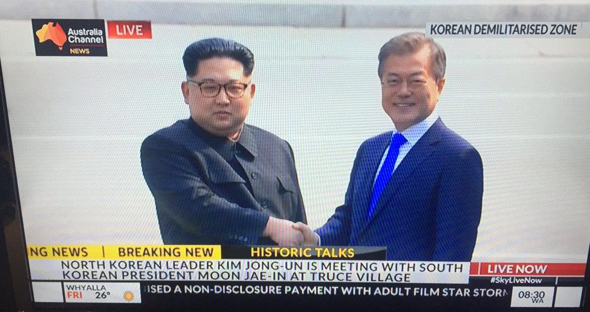 FLASH - Rencontre historique entre les présidents des deux Corées.