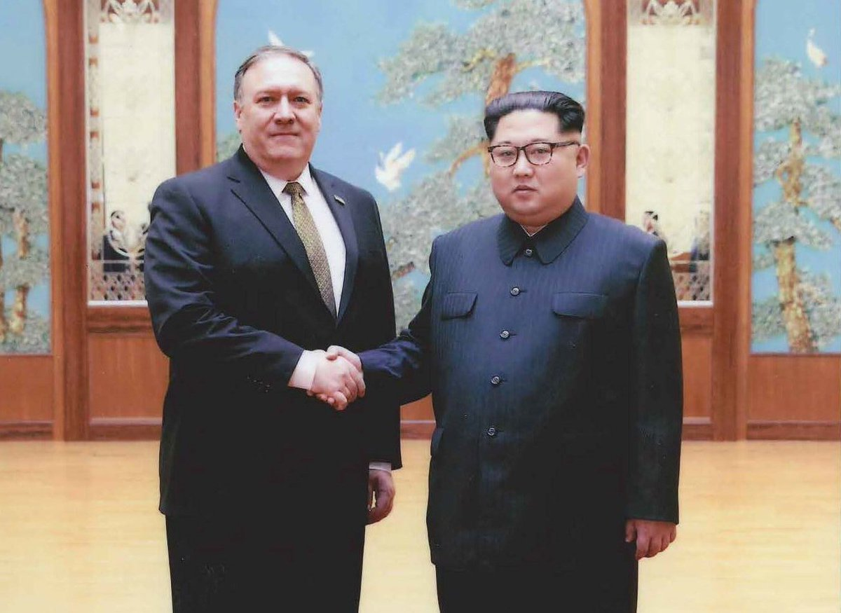 BREAKING: US Secretary of State Mike Pompeo with Kim Jong Un
