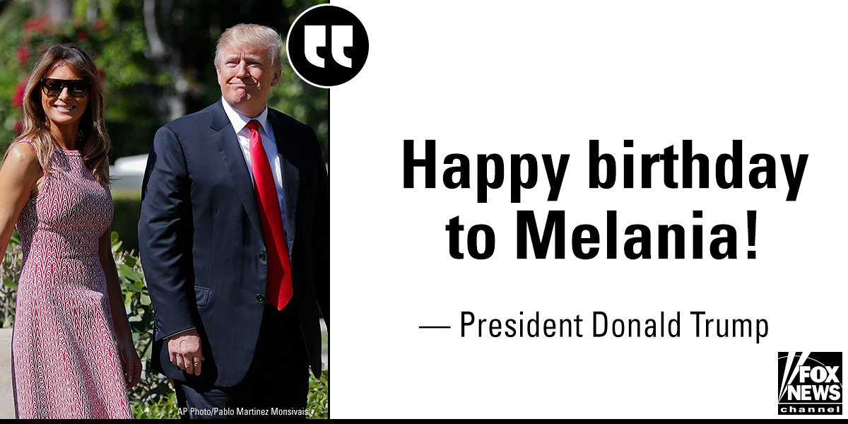 In an interview on @foxandfriends, @POTUS wished @FLOTUS a happy birthday.