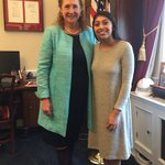Image for the Tweet beginning: Thank you @RepEsty for visiting
