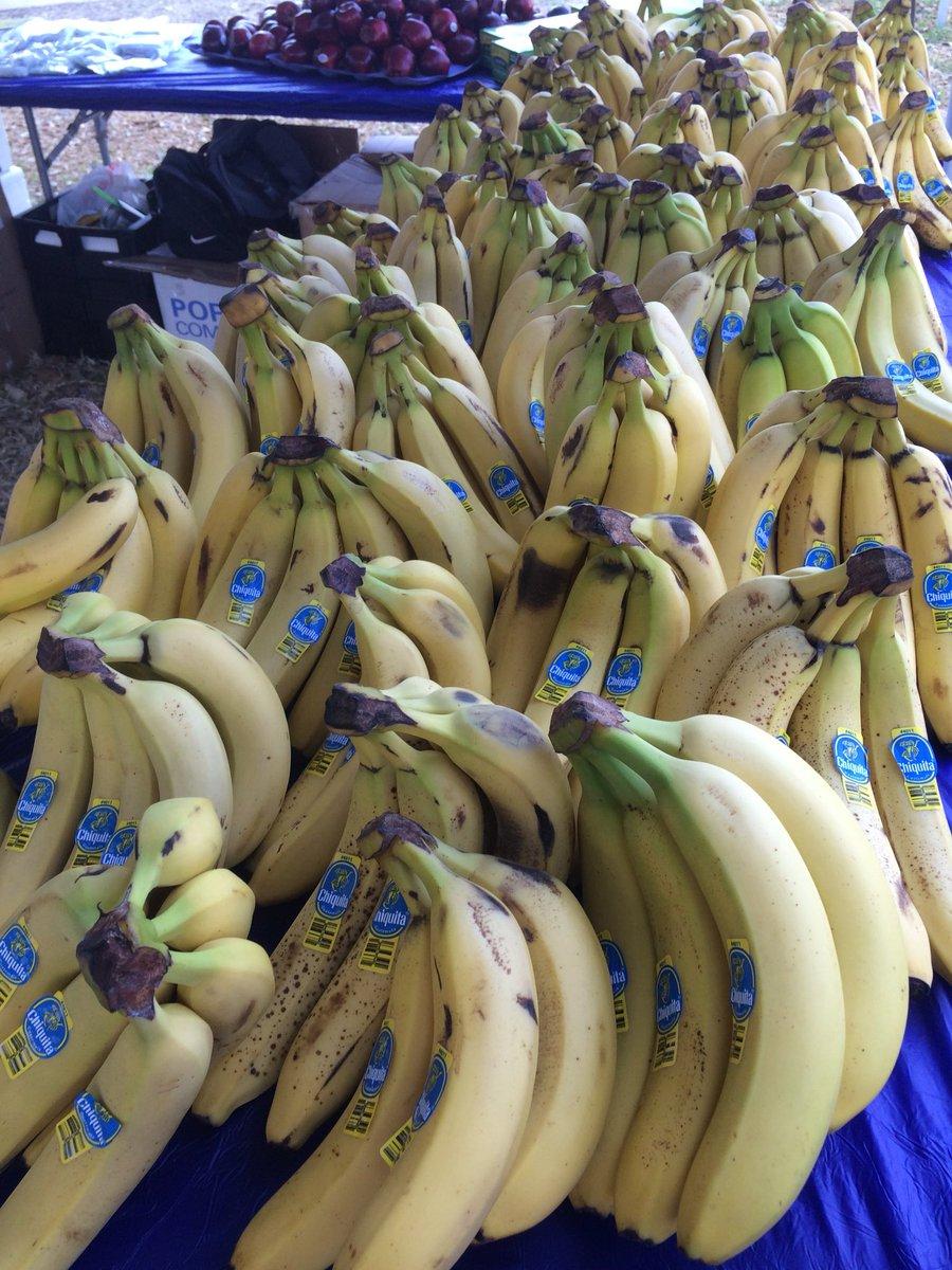 A whole lotta bananas here at the Miami Corporate Run. @miamiherald @heraldsports