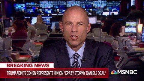 Image for the Tweet beginning: Watch: @MichaelAvenatti , Stormy Daniel's